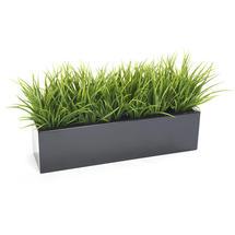 Window Box with Faux Grass Bush - 0.75m length