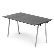 Ocean Table 85x142cm - Black Fibre Concrete Top