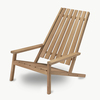 Between Lines Teak Deck Chair