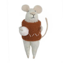 Felt Chistmas Mice with Snowball