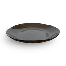 Pure Large Round Serving Plate - Grey