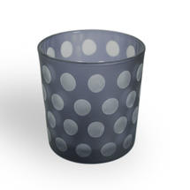 Etched Dot Tealight Holder