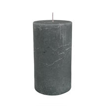 18 x 10cm Rustic Pillar Candle - Steel Grey