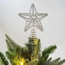 Glass Beaded Star Tree Topper