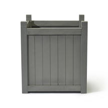 Hardwood Large Square Planter - Down Pipe Grey
