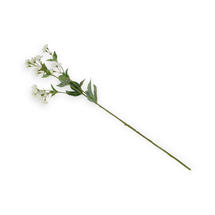 Single Faux White Astrantia Stem