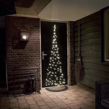 Door Illuminated Christmas Tree - Twinkling Ice White LEDs