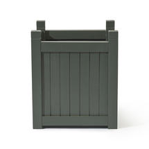 Hardwood Square Planter - Grey Green