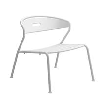 Curve White Lounge Chair