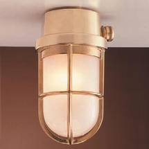 Grille Lamp - Brass
