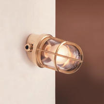 Angled Grille Lamp - Brass
