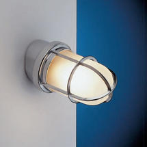Angled Grille Lamp - Chrome