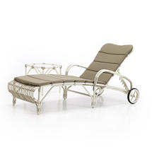 Lucy Sunlounger With Standard Taupe Cushion