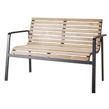 Parc Bench - Teak and Lava Grey