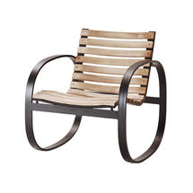 Parc rocking chair - Teak, Lava grey