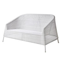 Kingston Woven 2 Seater Sofa - White/Grey