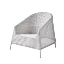 Kingston Woven Lounge Chair - White/Grey