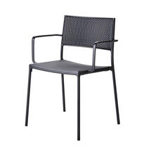 Less Arm Chair with Cane-Line Weave - Lava Grey