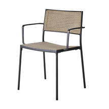 Less Arm Chair with Cane-Line French Weave - Lava Grey
