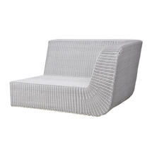 Savannah 2-seater sofa left module - White Grey