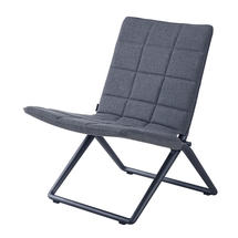 Traveller lounge folding chair - Lava grey/Grey