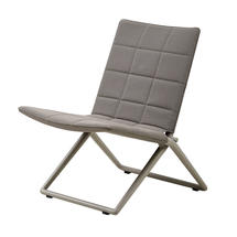 Traveller Soft Touch Folding Lounge Chair - Brown