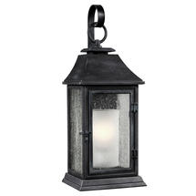 Shepherd Weathered Zinc Wall Lantern- Large