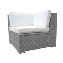 London Corner Unit - Grey / Natural Cushion