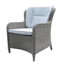 London Highback Chair Grey/Natural Cushion