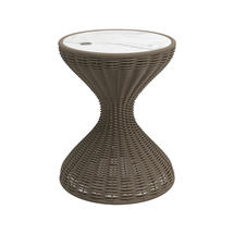 Bells Woven Side TableParchment withBianco Ceramic Top