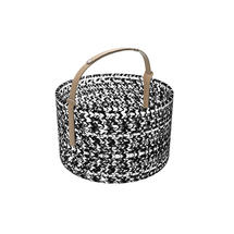 Outdoor Basket with leather handle - Light