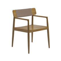 Archi Dining Chair with Arms - Buffed Teak Dune