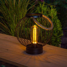 Outdoor LED Filament Globe Lantern