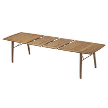 Ballare Extending Teak Table with Rubber Fill - 196cm to 296cm