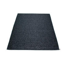 Svea 140 x 220cm Rug - Black Metallic / Black
