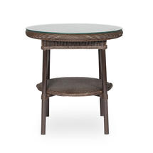 Avignon Side Table with glass top