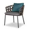 Leo Dining Chair with back and seat sunbrella cushions