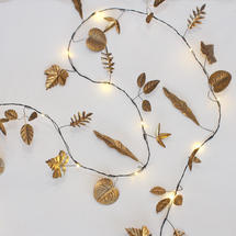 LED Metallic Leaf Lights-Gold