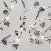 LED Metallic Leaf Lights-Silver