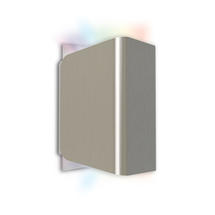 Temis Outdoor LED Up/Down Wall Light - Brushed Nickel