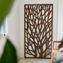 Rustic Metal Tree Screen