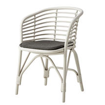Blend Indoor Chair with cushion - White Rattan