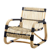 Curve lounge chair INDOOR - Natural with black bindings