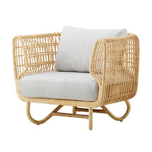 Nest Indoor Club Chair with Flat Weave cushions