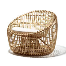 Nest Indoor Lounge chair with Raised Weave cushions