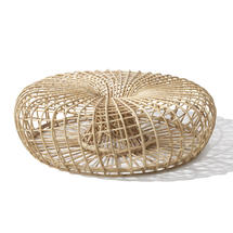 Nest footstool, large - Natural
