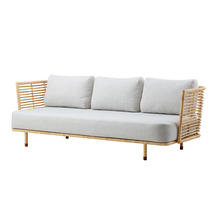 Sense Indoor 3 seater Sofa Rattan with Raised Weave cushions