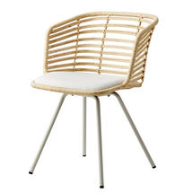 Spin Indoor Rattan Chair - Rattan with sunbrella cushion