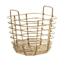 Sweep basket, square  - Natural