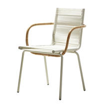 Sidd Stackable Chair with Arms - White